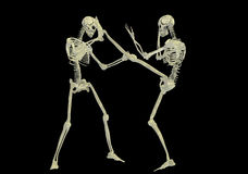 Skeleton fighting Stock Image
