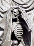 Skeleton Figure on the Nelson Monument at Exchange Flags Square in Liverpool Stock Images