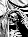 Skeleton Figure on the Nelson Monument at Exchange Flags Square in Liverpool Stock Photos