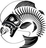 Skeleton Fish taking fishing lure