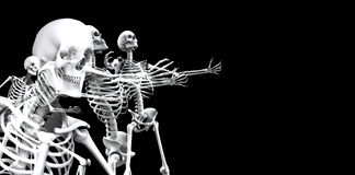 Skeleton Group 3. An x ray image of a group of skeletons. A suitable medical or Halloween based image Royalty Free Stock Photo