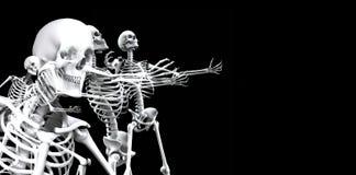 Skeleton Gruppe 3 Lizenzfreies Stockfoto