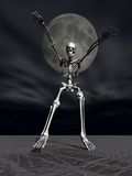 Skeleton Halloween Scare. A Skeleton running to get you Stock Images