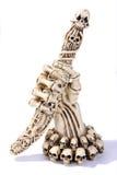 Skeleton Hand des Elfenbeins mit einem Papiermesser ein getrennt Stockfotografie