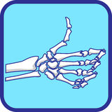 Skeleton hand like  Royalty Free Stock Photography