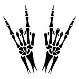 Skeleton hands heavy metal sign Royalty Free Stock Photos