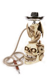 Skeleton head, Gargoyle Hookah, Shisha Stock Photos