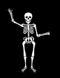 Skeleton. A skeleton with his left hand bent as if he is holding something. As a vector, all parts are movable and able to be rearranged Royalty Free Stock Photo