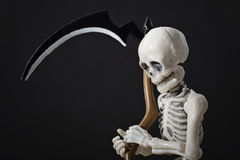 Skeleton holding scythe Royalty Free Stock Images