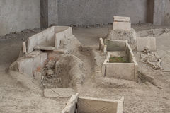 Skeleton In Archaeological Site Of Viminacium Roma Royalty Free Stock Photo