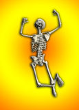 Skeleton Jumping. An active skeleton that is jumping around Stock Photo