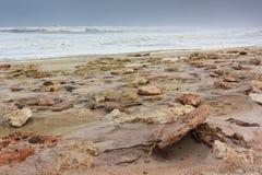 Skeleton Küste Namibia des felsigen Ufers Stockfotografie