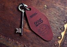 Skeleton Key. Closeup of a vintage hotel room skeleton key stock photography