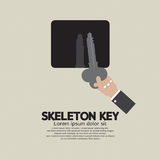 Skeleton Key In Hand. Stock Photography