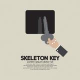 Skeleton Key In Hand. Skeleton Key In Hand Vector Illustration royalty free illustration