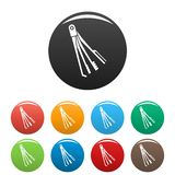 Skeleton key icons set color. Skeleton key icons set 9 color vector isolated on white for any design vector illustration