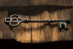 Skeleton Key on Wood Royalty Free Stock Photos