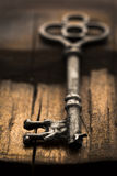 Skeleton Key on Wood Selective Focus Royalty Free Stock Photography