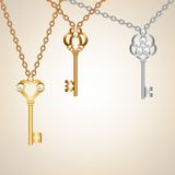Skeleton keys Royalty Free Stock Images