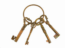 Skeleton keys on a ring royalty free stock image