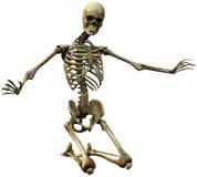 Skeleton kneel Stock Photos