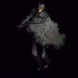 Skeleton Krieger-König #02 Stockfotografie
