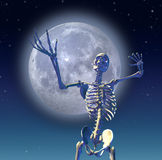 Skeleton Mond Stockfoto