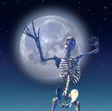 Skeleton Moon stock illustration
