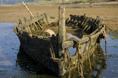 Skeleton Of A Boat Royalty Free Stock Image
