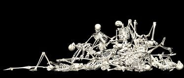 Skeleton pile Royalty Free Stock Photo