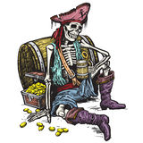 Skeleton Pirate Stock Photo