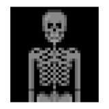 X-Ray of human skeleton pixel art. Skeleton pixel art; X-ray of human skeleton Stock Photo