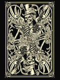 Skeleton Playing Card. Vector Illustration Stock Image