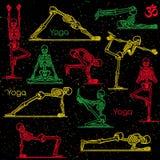 Skeleton practicing yoga Stock Photo
