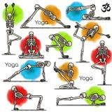 Skeleton practicing yoga Stock Images