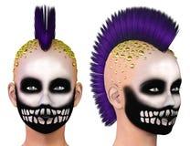 Skeleton punk girl Stock Photography