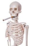 Skeleton rauchende Zigarette Lizenzfreies Stockbild