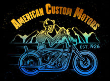 Skeleton Rider Motorcycle Stockfotografie