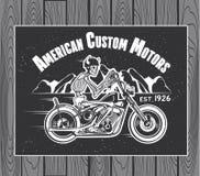 Skeleton Rider Motorcycle Stock Images
