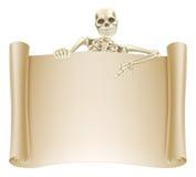Skeleton Rollen-Zeichen Stockfoto