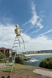 Skeleton Sculpture By The Sea Bondi Beach Stock Photos