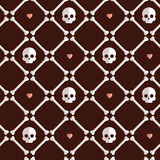 Skeleton seamless flat pattern. Stock Image