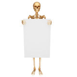 Skeleton with showing sign Royalty Free Stock Photo