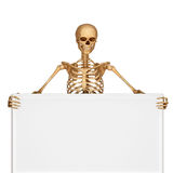 Skeleton with showing sign Royalty Free Stock Image