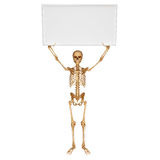 Skeleton with showing sign Stock Image