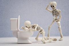 Skeleton sicks Royalty Free Stock Photo