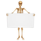 Skeleton with sign Stock Photos