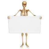 Skeleton with sign Stock Photos