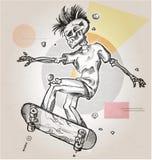 Skeleton skater Stock Photography