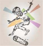 Skeleton skater Stock Images
